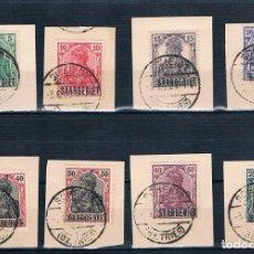 Sellos: SAARGEBIET 1920 SARRE GRUPO DE SELLADOS EN CARTON. Lote 180483287