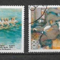 Sellos: ALEMANIA 1992 USADOS DEPORTES OLIMPIADAS - 7/35. Lote 182675497