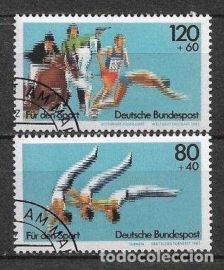 ALEMANIA 1983 USADOS DEPORTES - 7/35 (Sellos - Extranjero - Europa - Alemania)