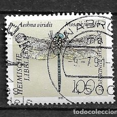 Sellos: ALEMANIA,RFA,1991,LIBÉLULAS,MICHEL 1552,USADOS. Lote 183030980