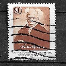Sellos: ALEMANIA,RFA,1988,SCHOPENHAUER,MICHEL 1357,USADOS. Lote 183034156
