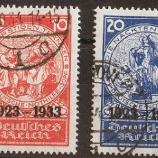 Sellos: ALEMANIA. ºYV 479/82. 1933. SERIE COMPLETA. MAGNIFICA Y RARA. (MI508/11 2.000 EUROS) REF: 64759. Lote 183144797