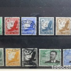 Sellos: Q516A.ALEMANIA REICH 1934 SERIE COMPLETA AEREOS 108,00€ Nº43/53 AVIACION USADOS. Lote 183322238