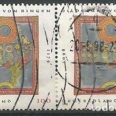 Sellos: ALEMANIA - FEDERAL - PAREJA HILDEGARD VON BINGEN 1998 - USADOS. Lote 183808346
