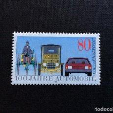Sellos: ALEMANIA FEDERAL Nº YVERT 1100*** AÑO 1986. CENTENARIO DEL AUTOMOVIL. Lote 183866273