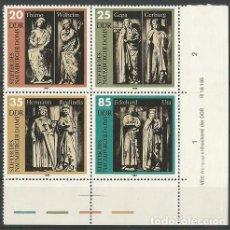 Sellos: ALEMANIA - RDA - ORIENTAL - 4 SELLOS EN UN BLOQUE 1983 - NUEVOS SIN MATASELLO. Lote 184137536