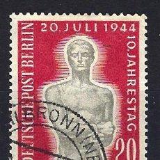 Timbres: 1954 ALEMANIA BERLÍN - ANIVERSARIO ATENTADO CONTRA HITLER 20 JULIO 1944 - MICHEL 119 YVERT 106 USADO. Lote 184372646