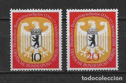 ALEMANIA BERLIN 1955 MICHEL 129/130 SERIE COMPLETA ** - 17/14 (Sellos - Extranjero - Europa - Alemania)
