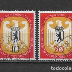 Sellos: ALEMANIA BERLIN 1955 MICHEL 129/130 SERIE COMPLETA - 17/14. Lote 185893833