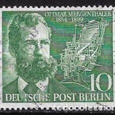 Francobolli: ALEMANIA BERLIN 1954 MICHEL 117 SERIE COMPLETA - 17/14. Lote 185895260
