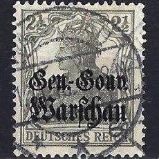 Timbres: 1915 ALEMANIA IMPERIO OCUPACIÓN DE POLONIA YVERT/MICHEL 6 SOBRECARGADO - USADO. Lote 187375207