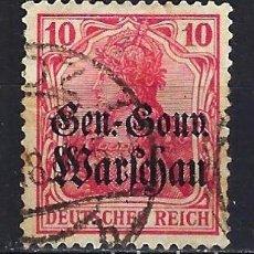 Timbres: 1915 ALEMANIA IMPERIO OCUPACIÓN DE POLONIA YVERT/MICHEL 10 SOBRECARGADO - USADO. Lote 187375325