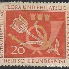 Sellos: ALEMANIA - FEDERAL - FRG - 1957 - FLORA Y FILATELIA EN COLONIA, 08 DE JUNIO DE 1957 , MI 254 - USADO. Lote 189373926