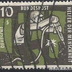 Sellos: ALEMANIA - FEDERAL - FRG - 1957 - AYUDANATE DE LA HUNANIDAD - MICHEL 271 - USADO. Lote 189424410
