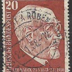 Sellos: ALEMANIA - FEDERAL - FRG - 1957 - LEO BAECK 1873 - 1956 - MICHEL 278 - USADO. Lote 189432907