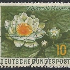 Sellos: ALEMANIA - FEDERAL - FRG - 1957 - PROTEGE LAS PLANTAS - MICHEL 274 - USADO. Lote 189433495