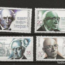 Sellos: R45/ ALEMANIA DDR 1987, MICHEL 3091/94 MNH**, BEDEUTENDE PERSONLICHEITEN. Lote 189501051