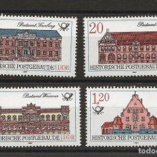 Sellos: R45/ ALEMANIA DDR 1987, MICHEL 3067/70 MNH**, HISTORISCHE POSTGEBAUDE. Lote 189501486