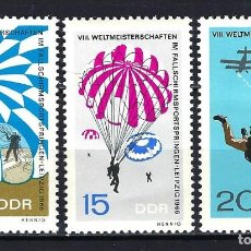 Timbres: 1966 ALEMANIA ORIENTAL DDR MICHEL 1193/1195 YVERT 886/888 MNH** PARACAIDISMO AVIONES. Lote 190992480