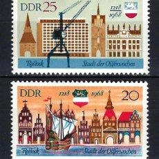 Timbres: 1968 ALEMANIA ORIENTAL DDR MICHEL 1384/1385 YVERT 1080/1081 MNH** BARCO PUERTO DE ROSTOCK. Lote 190992817