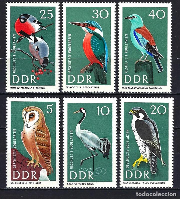 1967 ALEMANIA ORIENTAL DDR MICHEL 1272/1277 YVERT 969/974 MNH** FAUNA AVES PÁJAROS (Sellos - Extranjero - Europa - Alemania)