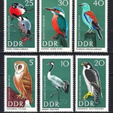 Sellos: 1967 ALEMANIA ORIENTAL DDR MICHEL 1272/1277 YVERT 969/974 MNH** FAUNA AVES PÁJAROS. Lote 190994196