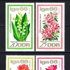Sellos: 1966 ALEMANIA ORIENTAL DDR MICHEL 1189/1192 YVERT 895/898 MNH** FLORES. Lote 191260023