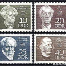 Sellos: 1969 ALEMANIA ORIENTAL DDR MICHEL 1440/1443 YVERT 1136/1139 MNH** PERSONAJES. Lote 191301461