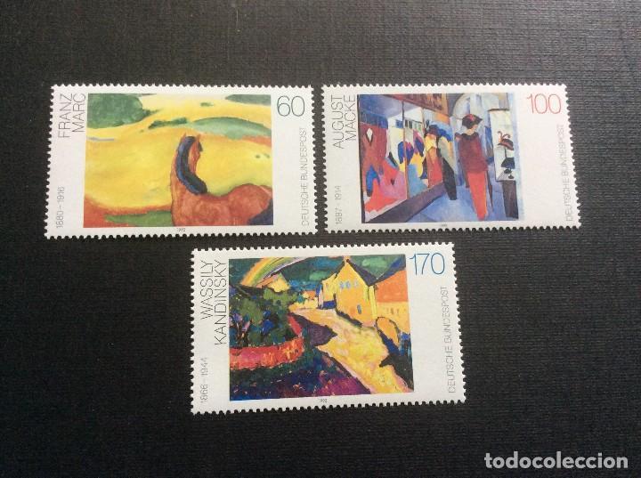 ALEMANIA FEDERAL Nº YVERT 1445/7*** AÑO 1992. PINTURA ALEMANA DEL SIGLO XX, MARC, MACKE Y KANDINSKY (Sellos - Extranjero - Europa - Alemania)