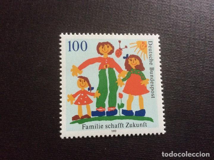 ALEMANIA FEDERAL Nº YVERT 1450*** AÑO 1992. DIBUJO INFANTIL. LA FAMILIA PREPARA EL FUTURO (Sellos - Extranjero - Europa - Alemania)