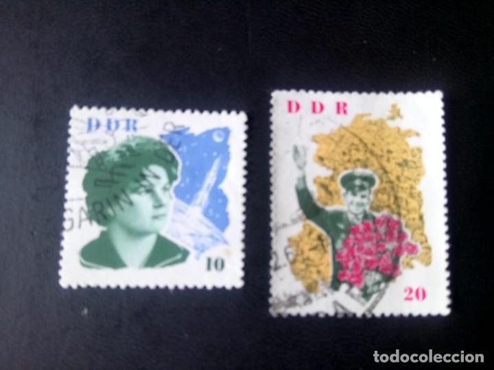 ALEMANIA, REPÚBLICA DEMOCRÁTICA, RDA, DDR, 1963, ESPACIO, COSMONAUTAS TARESCHKOWA Y GAGARIN (Sellos - Extranjero - Europa - Alemania)
