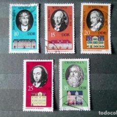Sellos: ALEMANIA, REPÚBLICA DEMOCRÁTICA, RDA, 1973, HISTORIA DE WEIMAR, PERSONAJES . Lote 192949526