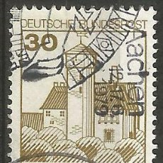 Sellos: ALEMANIA - FEDERAL - 30 PFENNIG - SERIE DE CASTILLOS - 2 JUNTOS SELLOS CASTILLO LUDWIGSTEIN WERRATAL. Lote 193032961