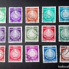 Sellos: ALEMANIA REPÚBLICA DEMOCRÁTICA, DDR, RDA, 1954, SERVICIO1/16 (FALTA EL 13). Lote 193202180