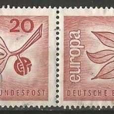 Sellos: ALEMANIA - FEDERAL - CEPT 1965 - 2 JUNTOS USADOS. Lote 193355753