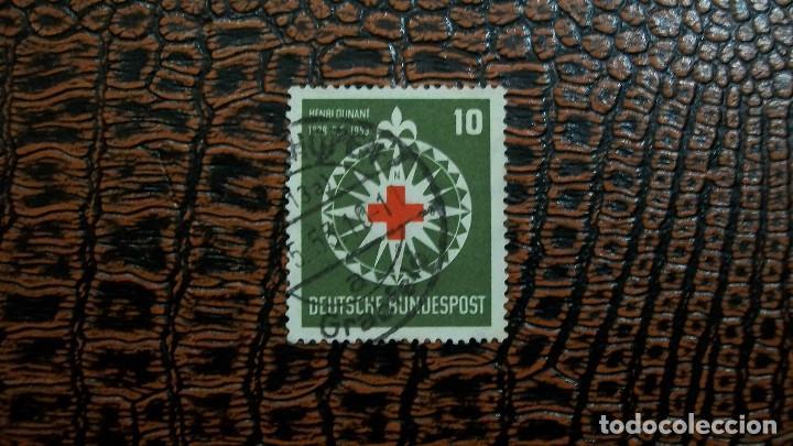 /15.02/-ALEMANIA FEDERAL-1953-Y&T 50 EN USADO /º/ (Sellos - Extranjero - Europa - Alemania)
