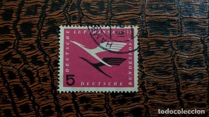 /15.02/-ALEMANIA FEDERAL-1955-Y&T 81 EN USADO /º/ (Sellos - Extranjero - Europa - Alemania)