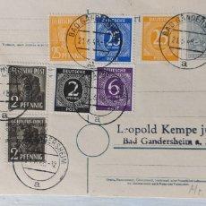 Sellos: TARJETA POSTAL ALEMANIA 1948 ZONA SOVIETICA. Lote 194558152