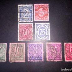Sellos: ALEMANIA, SERVICIO, 1921/22, MICHEL 66/73. Lote 194572055
