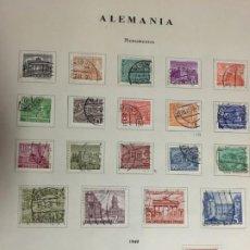 Sellos: BERLIN, OCUPACIÓN FRANCESA, ZONA SOVIÉTICA, BIZONA, COLECCIÓN DE SELLOS USADOS. Lote 194718016