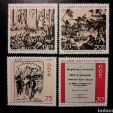 Sellos: ALEMANIA ORIENTAL DDR. YVERT 1345/8 SERIE COMPLETA NUEVA ***. CENTENARIO DE LA COMUNA DE PARÍS.. Lote 194725155