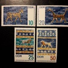 Sellos: ALEMANIA ORIENTAL DDR. YVERT 926/9 SERIE COMPLETA NUEVA ***. MUSEO DE ASIA MENOR DE BERLÍN. Lote 194727110