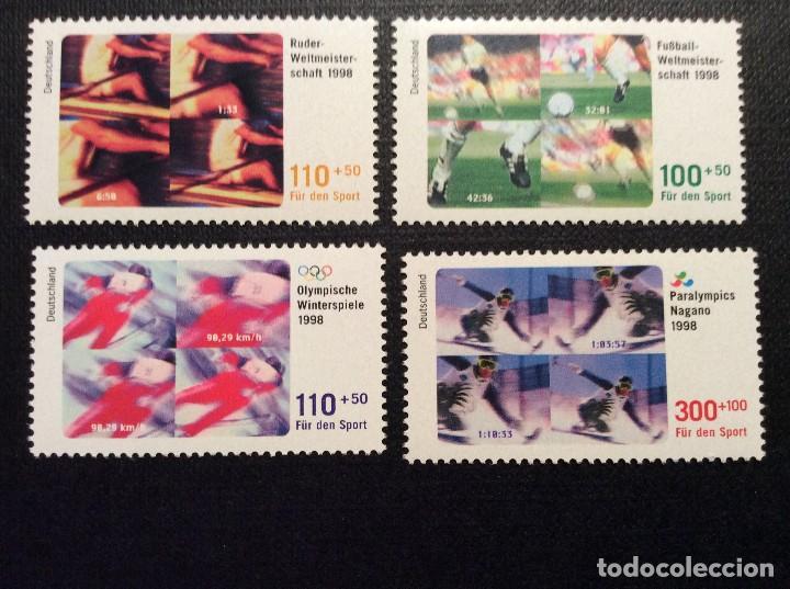 ALEMANIA FEDERAL Nº YVERT 1800/3*** AÑO 1998. ACONTECIMIENTOS DEPORTIVOS DE 1998 (Sellos - Extranjero - Europa - Alemania)