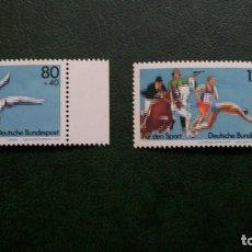 Sellos: /20.02/-ALEMANIA FEDERAL-1983-Y&T 1004/5 SERIE COMPLETA EN NUEVO SIN FIJASELLOS (**MNH). Lote 194746616
