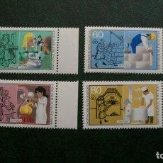Sellos: /20.02/-ALEMANIA FEDERAL-1986-Y&T 1106/9 SERIE COMPLETA EN NUEVO SIN FIJASELLOS (**MNH). Lote 194746633