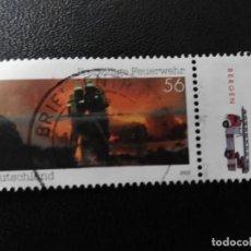 Sellos: ALEMANIA 2002. VOLUNTEER FIRE DEPARTMENT. MI:DE 2275, SN:DE 2173, YT:DE 2103,. Lote 194906823