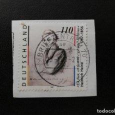 Sellos: ALEMANIA 1997. HEINRICH HEINE (1797-1856), POET AND PUBLICIST. MI:DE 1962, SN:DE 1984, YT:DE 1794,. Lote 194906963
