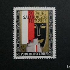 Sellos: /23.02/-AUSTRIA-1970-Y&T 1163-SERIE COMPLETA SIN FIJASELLOS(**MNH). Lote 194979630