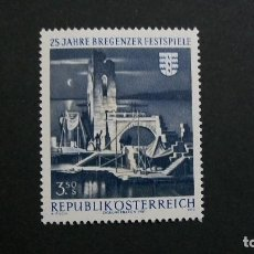 Sellos: /23.02/-AUSTRIA-1970-Y&T 1164-SERIE COMPLETA SIN FIJASELLOS(**MNH). Lote 194979638