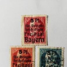 Sellos: BAVIERA AÑO 1920 YT 171A-172A Y 173A. Lote 195022491
